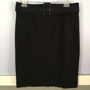 Apt. 9 Pinstriped black and white pencil skirt 12